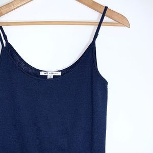 St. John Navy Blue Knit Spaghetti Strap Top
